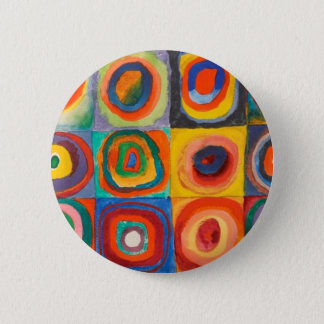 Kandinsky Squares Concentric Circles 2 Inch Round Button