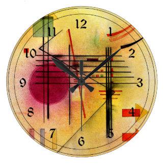 Kandinsky - Vibrant Large Clock