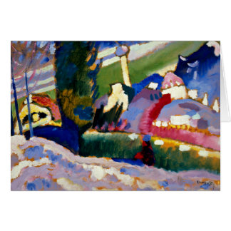 Kandinsky - Winter Landscape with Church Card