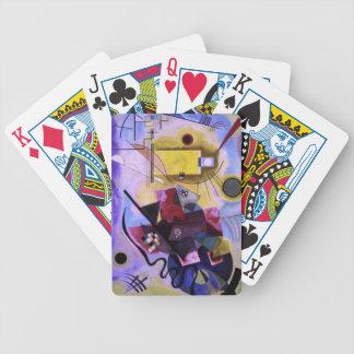 Kandinsky Yellow. Bicycle Playing Cards