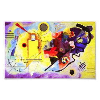 Kandinsky Yellow Red Blue Print Photographic Print