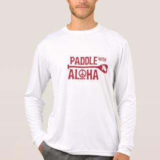 Kane Paddle with Aloha Rash Guard (Red) T-Shirt