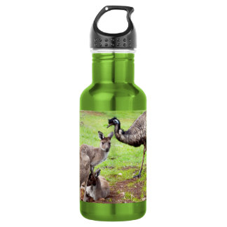 Kangaroo And Emu, 532 Ml Water Bottle
