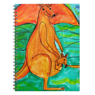 Kangaroo and Friend Notebook