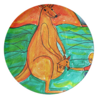 Kangaroo and Friend Plate