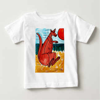 Kangaroo and Joey Baby T-Shirt