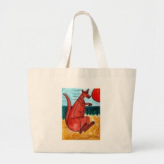 Kangaroo and Joey Large Tote Bag