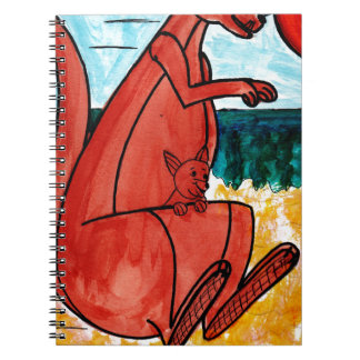 Kangaroo and Joey Spiral Notebook