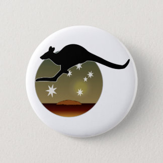 Kangaroo Aussie Icon Badge 2 Inch Round Button