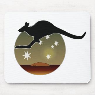 Kangaroo Aussie Icon Mouse Pad