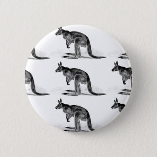 kangaroo boxed in square 2 inch round button