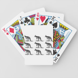 kangaroo boxed in square bicycle playing cards