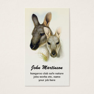 kangaroo business card