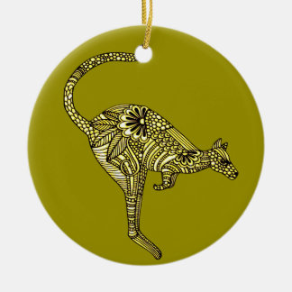 Kangaroo Ceramic Ornament