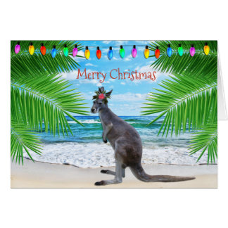KANGAROO CHRISTMAS CARD