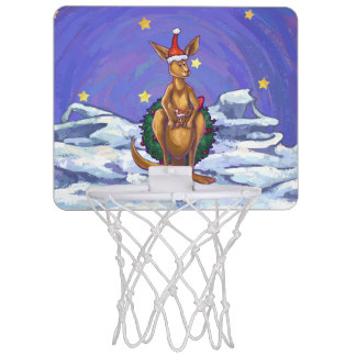 Kangaroo Christmas Starry Night Mini Basketball Hoop