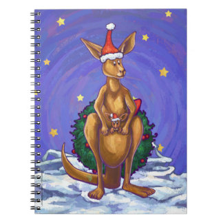 Kangaroo Christmas Starry Night Notebooks