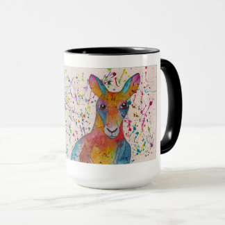 Kangaroo coffee mug whimsical