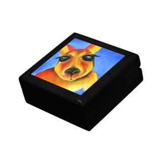Kangaroo colorful art painting gift box
