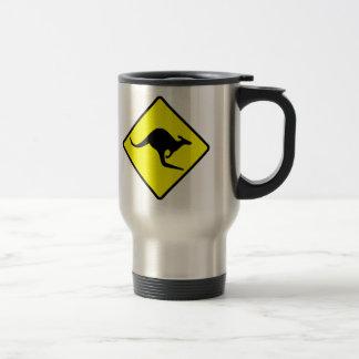 KANGAROO CROSSING - down under/oz/australia/aussie Travel Mug