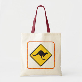 Kangaroo Crossing Tote Bag