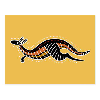 Kangaroo Dotted Design Postcard