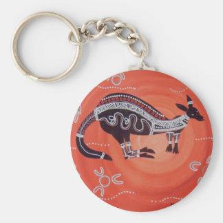 Kangaroo Dreaming Keychain