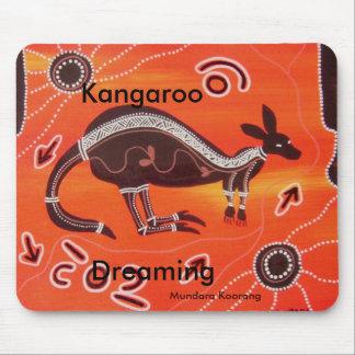 Kangaroo Dreaming Mouse Pad