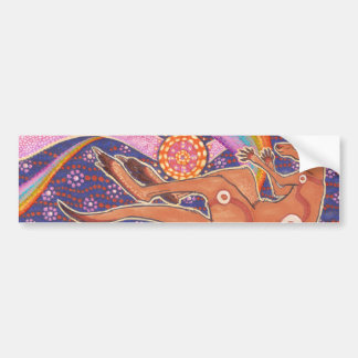 Kangaroo Dreaming the Dawn Bumper Sticker