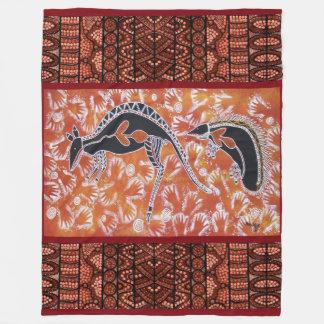Kangaroo & Echidna Fleece Blanket