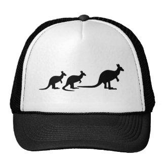 Kangaroo family trucker hat