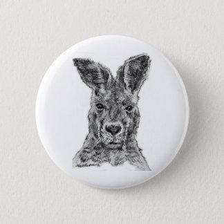 kangaroo gday mate 2 inch round button