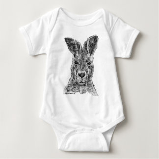 kangaroo gday mate baby bodysuit