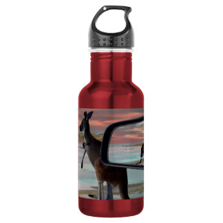 Kangaroo Having A Scratch On The Beach, 532 Ml Water Bottle