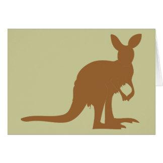 Kangaroo Kangaroos Australia Marsupial Art Animal Card