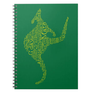 Kangaroo made of Australian slang Spiral Notebook
