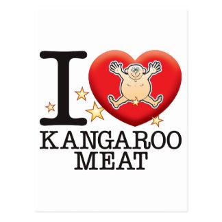 Kangaroo Meat Love Man Postcard
