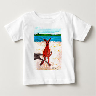 Kangaroo on Beach Baby T-Shirt
