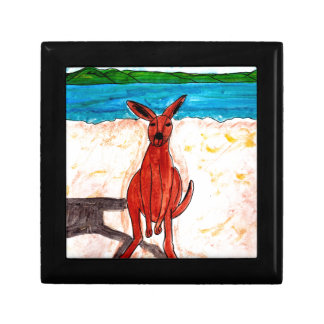 Kangaroo on Beach Gift Box