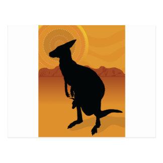 Kangaroo Outback Postcard