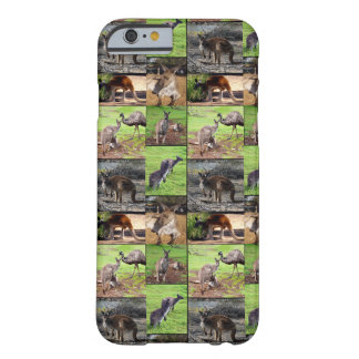 Kangaroo Photo Collage , Barely There iPhone 6 Case