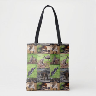 Kangaroo Photo Collage, Full Print Shopping Bag. Tote Bag