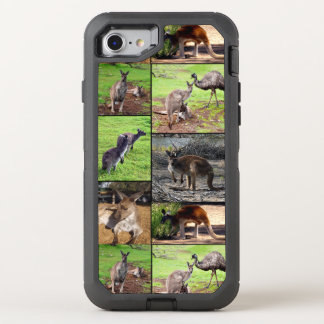 Kangaroo Photo Collage , OtterBox Defender iPhone 8/7 Case