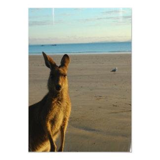 Kangaroo Photo Invitation
