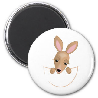 Kangaroo Pouch 2 Inch Round Magnet