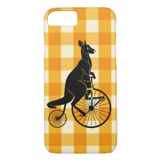 Kangaroo Riding a Penny Farthing Bike iPhone 8/7 Case