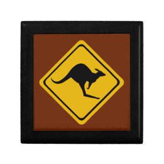 kangaroo road sign keepsake boxes