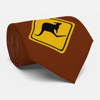 kangaroo road sign tie
