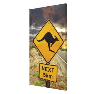 Kangaroo sign, Australia Canvas Print