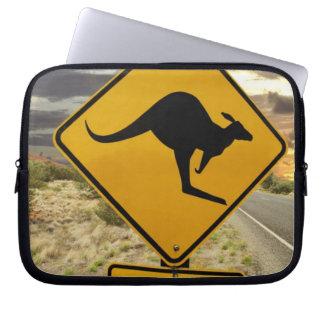 Kangaroo sign, Australia Laptop Sleeve